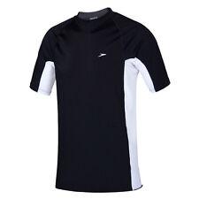 NEW Speedo Slim Fit Sun Shirt / Rashie 77N80/0024 Black & White - Mens Swimwear