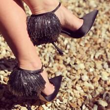 NEW Manolo Blahnik FRANCAMARIA Satin Black Shoes 36.5 37 37.5 39 40 41