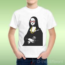 camiseta Niño niño Gioconda Moda Gafas Collar Idea De Regalo