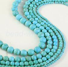 Türkis Perlen Spacer Beads zum Basteln Perlenkette Schmuckherstellung 4/6/8/10mm