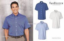 Van Heusen - Short Sleeve Button-Down Oxford Dress Shirt - 13V0042
