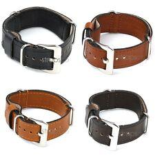 StrapsCo Vintage Style Military Leather Watch Strap Wrap Around Band
