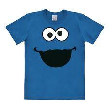 TV - Held - Sesamstrasse - Krümelmonster - Gesicht - T-Shirt - blau - LOGOSHIRT