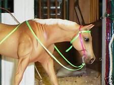 Jaapi PINK & GREEN Western BRIDLE - fits Breyer Classic sized model horses CM