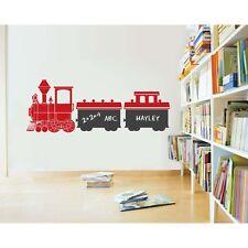 Kids Train Chalkboard Vinyl Wall Sticker Decal
