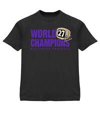 BALTIMORE RAVENS SUPERBOWL CHAMPIONS RAY RICE Tee Shirt w/ Ring XL Black T-Shirt