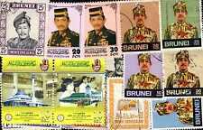 BRUNEI collections de de 25 à 200 timbres différents