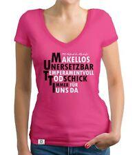 Damen T-Shirt V-Ausschnitt - MUTTI - Muttertag Mama Die Beste Family Familie