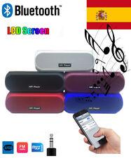 Bluetooth Speaker Wireless USB LCD pantalla FM Radio Altavoz Portátil AUX Stereo