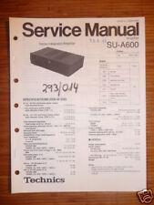 Service MANUAL TECHNICS su-a600 amplifier, ORIGINALE