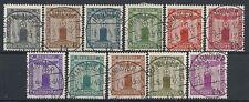 1942 GERMANIA USATO TERZO REICH SERVIZIO AQUILA E CROCE 11 VALORI - DE090