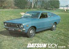 Datsun Nissan Sunny 120Y Coupe 1976-77 UK Market Leaflet Sales Brochure