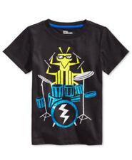 Epic Threads Boys Black Graphic Short Sleeve T-Shirt size Small NWT B5495