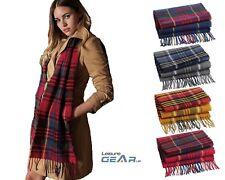 Womens Winter Check Scarf Ladies Beechfield Classic Tartan Tassel Neck Scarves