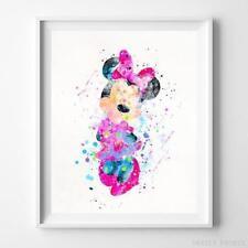 Minnie Mouse Type 2 Wall Art Disney Watercolor Poster Nursery Room Art UNFRAMED