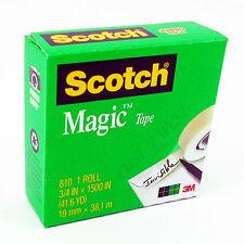"""Scotch Magic Tape 3/4""""x1500"""" 1-Roll,  3-Rolls, 6-Rolls, 9-Rolls, 12-Rolls, 24"""
