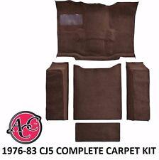 ACC 1976-83 CJ5 JEEP CARPET KIT CUTPILE CARPET FULL FLOOR KIT MOLDED WHEEL WELL