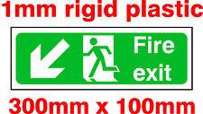 Fire EXIT SIGN 1MM plastica rigida. 30x10cm. IVA Inc!