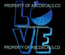 VRS Love Logo Fishing Bobber Rod Lure CAR DECAL METAL STICKER