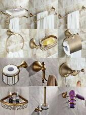 Antique Brass Bath Accessories Towel Bar Toilet Bathroom Hardware Set aj02