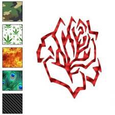 Rose Tribal Flower Decal Sticker Choose Pattern + Size #584