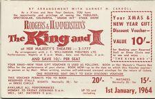 1964 Discount 10/- Voucher Melbourne Australia Rodgers & Hammerstein's theatre