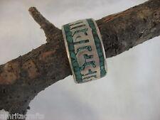 Tibetan Buddhism Turquoise Om Mani Padme Hum Mantra Ring
