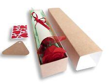 1 POEM SCROLL KRAFT BOX AND ROSE MUM NAN GRANDMA AUNTIE, MOTHERS DAY  BIRTHDAY
