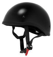 SKID LID ORIGINAL HELMET LOW PROFILE BLACK HALF SHELL BIKER MOTORCYCLE HELMETS