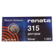 Renata Batteria Orologio SWISS MADE Renata 315 o SR716SW Fast Shipping