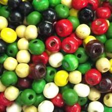 5x6mm en bois fabrication de bijoux artisanat perles de rocaille perles 30 G fourni couleur