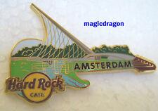 Hard Rock Cafe AMSTERDAM #1 Bridge Series Guitar Pin .