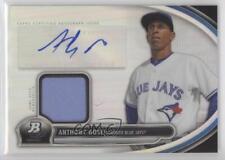 2013 Bowman Platinum Autographed Relic AR-AG Anthony Gose Toronto Blue Jays Auto