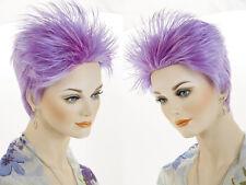Short Razor Cut Punky Style Rocker Hair Straight Fun Color Costume Wigs