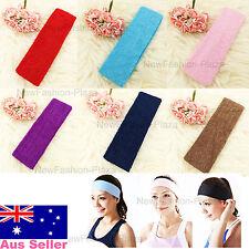 Brand New Sports Yoga Gym Flexible Color Head Hair Band Armband 100% Cotton 2
