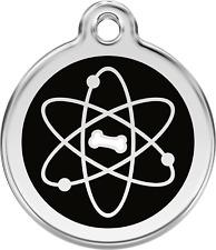 """médaille acier inoxydable gravée chien ou chat red dingo """"atome"""" 3 tailles"""