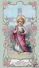 SANTINO HOLY CARD TELA CANVAS GESU' BAMBINO n 1