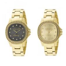 Orologio Donna LIU JO Luxury MAYA Bracciale Acciaio Gold Dorato Swarovski New