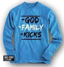 """NOcry GOD Shirt Long Slvd in Foamposite Pro """"University Blue"""" Colorway Foams"""
