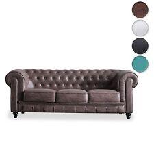 Sofá chester, butaca comoda, sofa vintage en simil piel o tejido, Chesterfield