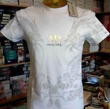 T-shirt maglia uomo Angel Devil in cotone con stampa e logo argento art 14010017