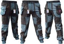 BLACK Patchwork PACE Baba Pantaloni Larghi Stile elastico in vita estate Gypsy casual Pantaloni