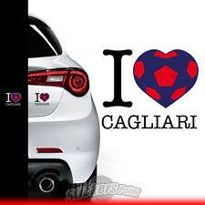 adesivo I LOVE CAGLIARI sticker PVC auto squadre calcio serie A