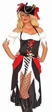 Pirate Beauty Costume, Leg Avenue 83699, Adult Womens 3 Piece, Size S/M, M/L, XL