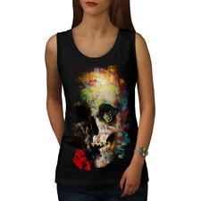 Skull Sugar Rose Art Women Tank Top NEW   Wellcoda