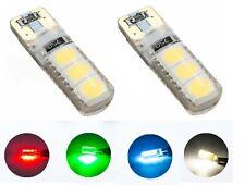 2 LUCI POSIZIONE T10 6 LED CANBUS 12V NO ERRORE lampadina auto bianco rosso blu