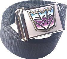 Decepticons Transformers Belt Buckle Bottle Opener Adjustable Web Belt