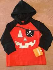 NWT Gymboree Halloween 2016 Boys Pirate Pumpkin Hoodie 12-18 18-24 2T