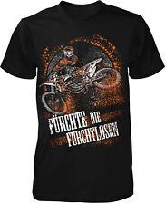 fürchte die Furchtlosen T-Shirt Herren Motocross Enduro Bike Team Motorrad Sport