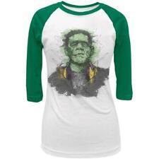 Halloween Frankenstein Raver Horror Movie Monster Juniors 3/4 Raglan T Shirt